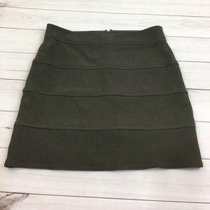 New York & company skirt green olive